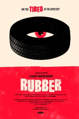 Rubber poster neumatico asesino killer tyre